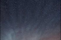 perseid shower and aurora