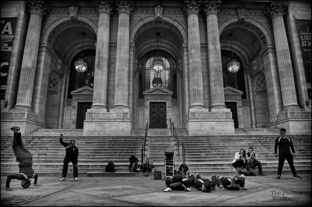 street performers new york public library 1