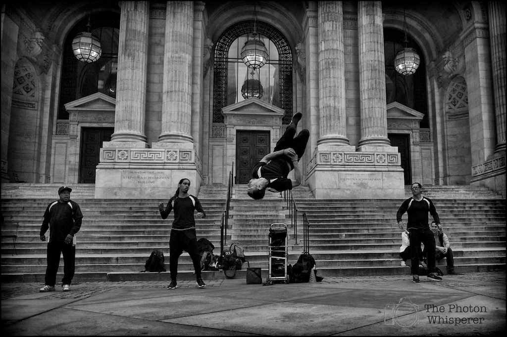 street performers new york public library 2