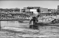 26 bridges – further demolition of the old traffic bridge