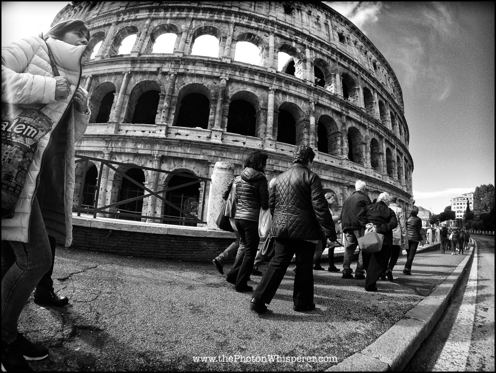 The colosseum is such a classic staple of Roman architecture that I knew it needed to be in the final twelve. I took this one with GoPro to pair it with another GoPro image that ended up not making the final cut. I like how these typical tourists frame the building, while hurrying to get to the entrance.